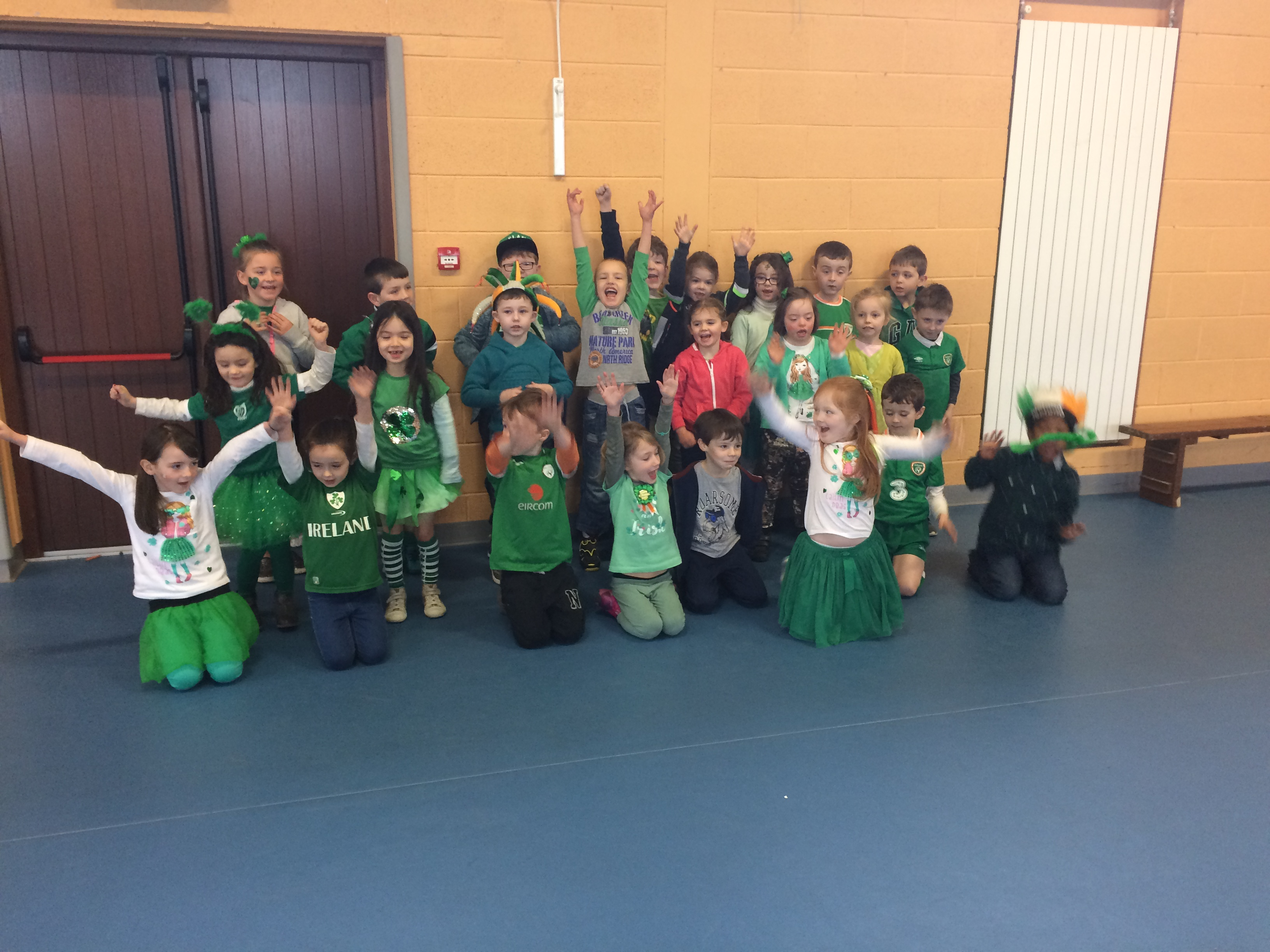 Our class preformed at assembly for St. Patrick's Day.