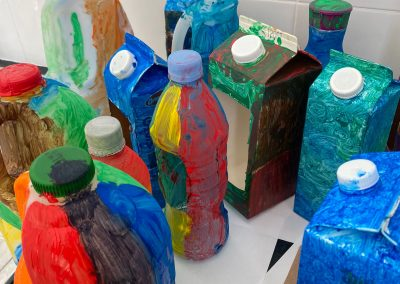 National Tree Day - Milk Carton-Container Painting